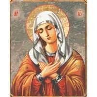 Картина по номерам раскраска Икона Божией Матери «Умиление»