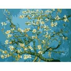 "Картина по номерам раскраска ""Цветы миндаля"""