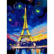 "Картина по номерам раскраска ""Ночь в Париже"""
