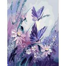 """Картина по номерам раскраска """" Танец бабочек"""""""