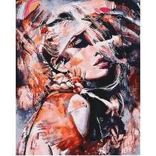 """Картина по номерам раскраска """"Таинственная женщина"""""""
