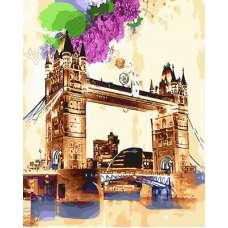 """Картина по номерам раскраска """"Акварельный мост"""""""