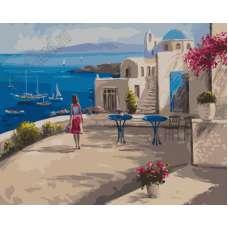 "Картина по номерам раскраска ""Терраса на побережье"""