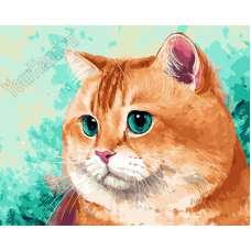 """Картина по номерам раскраска """"Упитанный кот"""""""