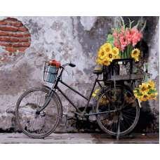 "Картина по номерам раскраска ""Ретро велосипед"""