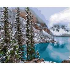 "Картина по номерам раскраска "" Изумрудное озеро"""