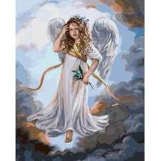 "Картина по номерам раскраска ""Милый ангел"""