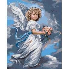 """Картина по номерам раскраска """"Небесный ангел"""""""