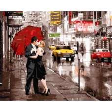 """Картина по номерам раскраска """"Вдвоем в Нью-Йорке"""""""