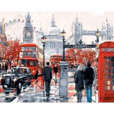 """Картина по номерам раскраска """"Лондонская суета"""""""
