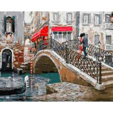 "Картина по номерам раскраска ""Венецианский мостик"""