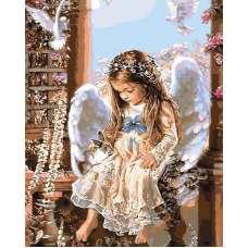"""Алмазная живопись """"Ждущий ангел"""""""