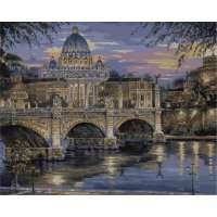 """Картина по номерам раскраска """"Вечерний Ватикан"""""""