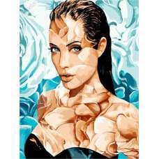 "Картина по номерам раскраска ""Анджелина Джоли"""