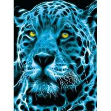 """Картина по номерам раскраска """"Неоновый ягуар"""""""