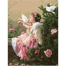 """Картина по номерам раскраска """"Поцелуй ангела"""""""