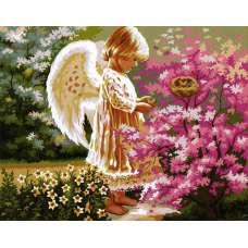 """Картина по номерам раскраска """"Ангел хранитель"""""""