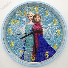 """Часы - алмазная мозаика """"Холодное сердце"""""""