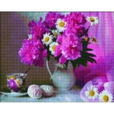 """Алмазная живопись """"Ваза с цветами"""""""