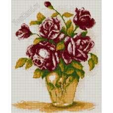 """Алмазная живопись """"Розы в вазоне"""""""