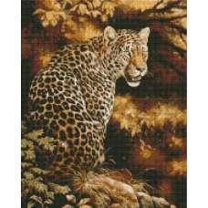 """Алмазная живопись """"Леопард"""""""