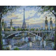 """Алмазная живопись """"Мост через реку"""""""