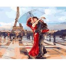 """Картина по номерам раскраска """"Встреча в Париже"""""""