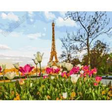 "Картина по номерам раскраска ""Парижские поля"""