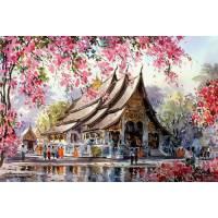 """Картина по номерам раскраска """"Восточный храм"""""""