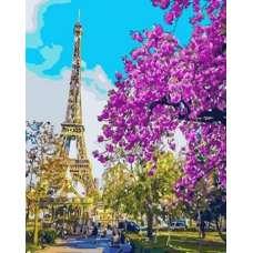 "Картина по номерам раскраска ""Сирень в Париже"""