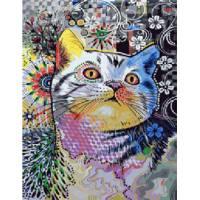 """Картина по номерам раскраска """"Котик"""""""