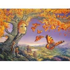 """Картина по номерам раскраска """"Дерево бабочек"""""""