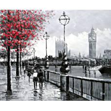 """Картина по номерам раскраска """"Набережная в Лондоне"""""""
