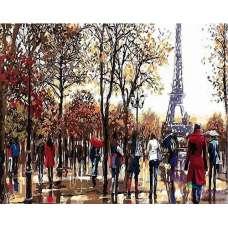 """Картина по номерам раскраска """"Парк в Париже"""""""