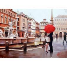 """Картина по номерам раскраска """"Поцелуй во Флоренции"""""""