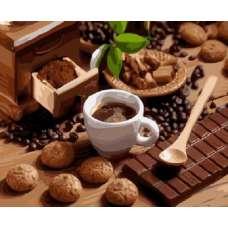 """Картина по номерам раскраска """"Шоколад и кофе"""""""