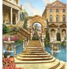 """Картина по номерам раскраска """"Лестница в арку"""""""