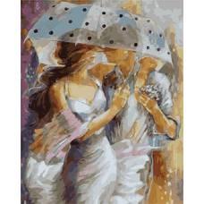 """Картина по номерам раскраска """"Под прозрачным зонтом"""""""