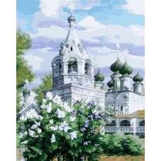 """Картина по номерам раскраска """"Монастырь"""""""