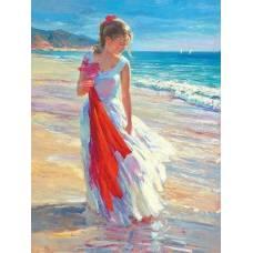 """Картина по номерам раскраска """"На берегу моря"""""""
