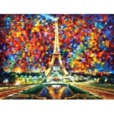 "Картина по номерам раскраска ""Фейерверк в Париже"""