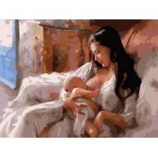 """Картина по номерам раскраска """"С материнской заботой"""""""