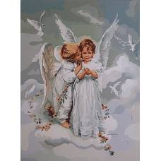 "Картина по номерам раскраска ""Ангелочки"""