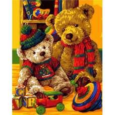 """Картина по номерам раскраска """"Плюшевые игрушки"""""""