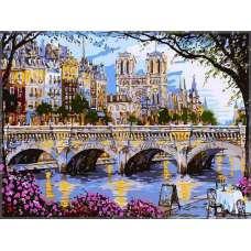 """Картина по номерам раскраска """"Парижский собор"""""""