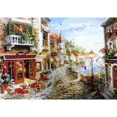 """Картина по номерам раскраска """"Уютное кафе"""""""