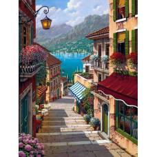 "Картина по номерам раскраска ""Лестница к заливу"""