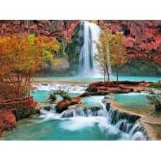 "Картина по номерам раскраска ""Водопад и пороги"""