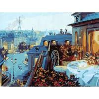 """Картина по номерам раскраска """"Парижская квартира"""""""