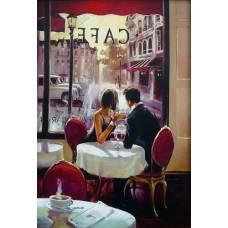 """Картина по номерам раскраска """"Окно в кафе"""""""